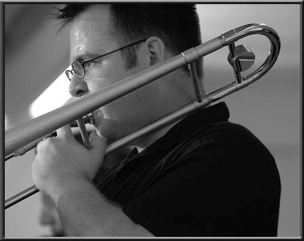 Andy-Baker -Trombon player on Swing Fever Song